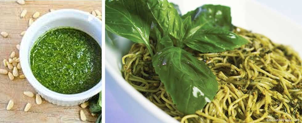 Traditional italian pesto pasta recipe